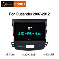 Ownice C500+ G10 2 din Car Radio Android 8.1 GPS for Mitsubishi Outlander 2007 support Music Blutooth DVD Carplay 4G Vedio Audio