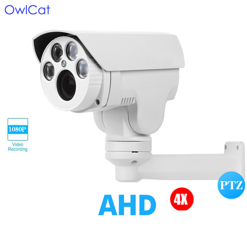 купить OwlCat AHD Bullet Camera Outdoor Full HD 1080P 2.8-12mm Varifocal 2.0MP 4X 10X Motorized Auto Focus Zoom External PTZ Camera по цене 8482.48 рублей