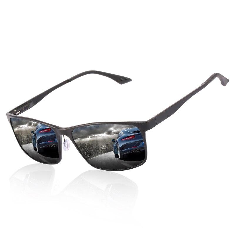 2018 Man Black/Green/Tea Colors Rectangle Polarized Mental Frame Sunglasses With Box Free Shipping