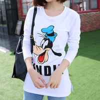 2017 Brand Women Shirts Mickey Goofy Tops Girls Fashion Tops T Shirts Women