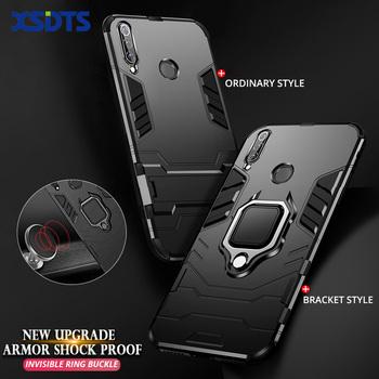 Skrzynka dla Huawei P20 P30 P40 Honor 20 7A 7C Pro 8X Max 8A 8S 10 Lite E 10i 20i Pro grać AUM-L29 DUA-L22 AUM-L41 zbroja do telefonu Coque tanie i dobre opinie XSDTS Pół-owinięte Przypadku PC(Plastic)+Hard Silicone (TPU) Honor 10 Geometryczne Zwykły Podpórka Anti-knock Easy access to all buttons headphone jack and charging port