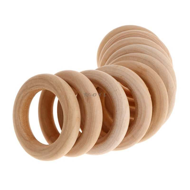 10 Pcs/Set Natural Wooden Ring Home Decoration Pet Parrot Bird Parakeet Toys Bite Chew Molar Teeth Grind Toy DIY Accessories