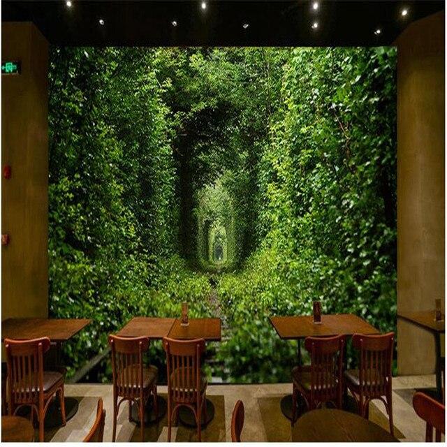 US $15.0 |Wohnkultur Tapete für Wohnzimmer Grün Liebe Tunnel Romantische  Zeit Wandmalerei Fotografie Hintergrund Modernen Großes Wandbild in ...