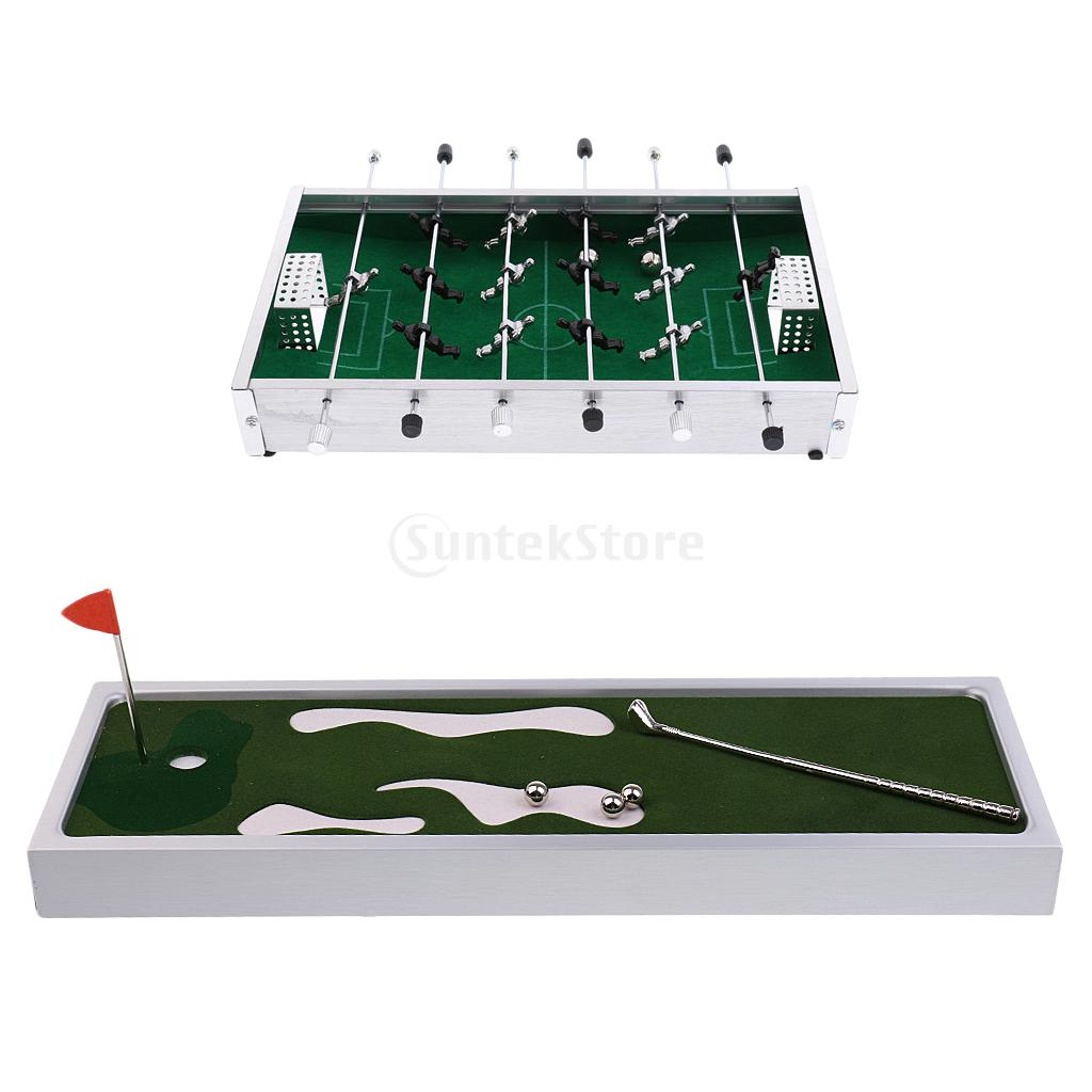 Mini Table Football Soccer Foosball Game & Table Golf Game Set Board Game Table Sport Family Fun Leisure Entertainment