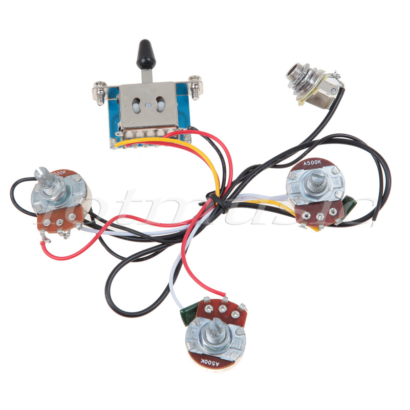 10 sets Left Handed Guitar Wiring Harness 5 Way Blade Switch 500K Full Size Pots for wire home alarm system picture more detailed picture about 10 left handed guitar wiring diagram at cos-gaming.co