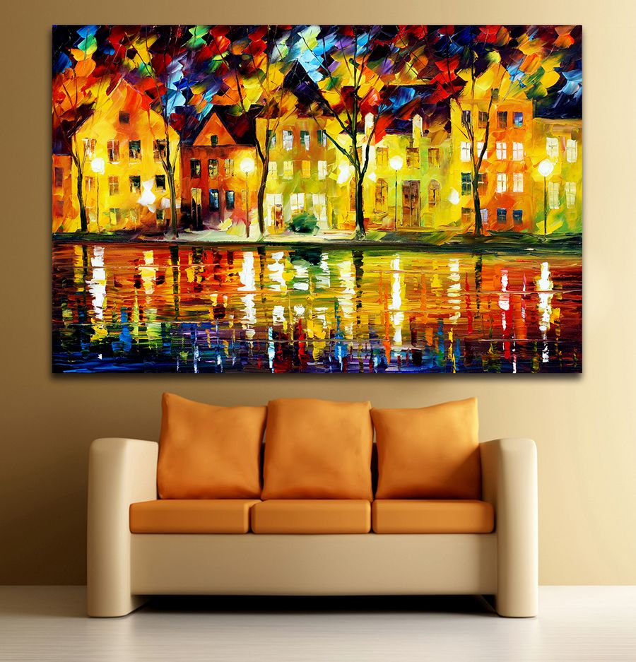 European Cities Architecture Art 100% Hand painted Canvas Oil ...