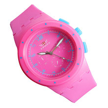 12431fd3027e Moda Rosa mujeres silicona relojes cuarzo chica reloj Casual reloj mujer  relogio feminino horas señoras muñeca