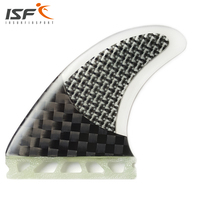 High Quality Grip Half Carbon Fiberglass Innegra Future Surf Fins Base G7/ Insurfin Black Surfboard Fins Set (3) M7