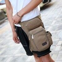 Hot Men Canvas Waist Leg Bag Men S Travel Bags New Stylish Retro Vintage Tactics Multi