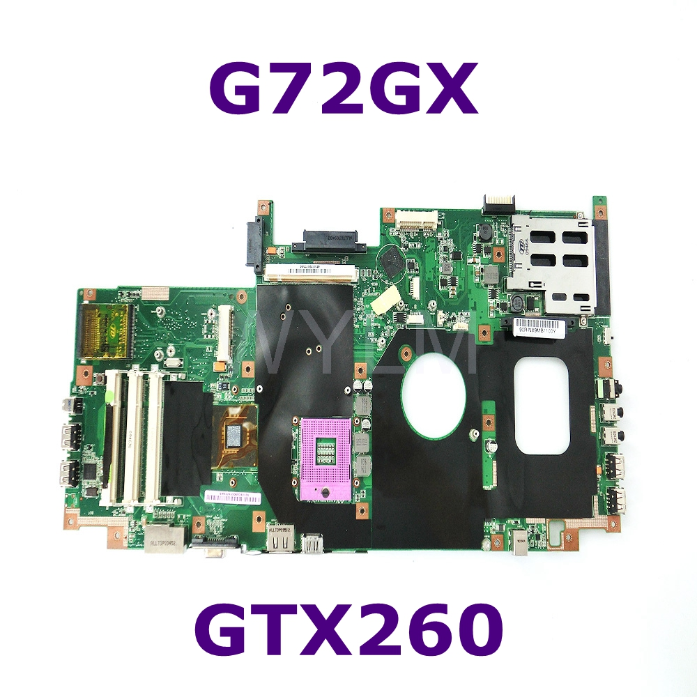 G72GX Mainboard REV 2.0 GeForce GTX 260M For ASUS G72G G72GX  G72G G71G G71GX  Laptop motherboard DDR3 100% Tested free shippingG72GX Mainboard REV 2.0 GeForce GTX 260M For ASUS G72G G72GX  G72G G71G G71GX  Laptop motherboard DDR3 100% Tested free shipping