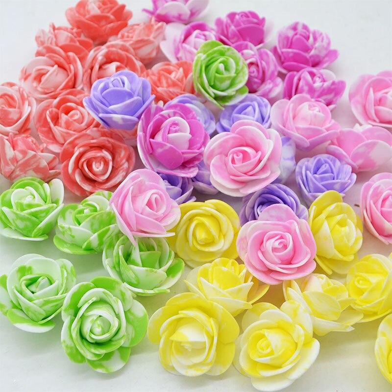 50 шт. милые мини оникс ПЭ пены розы голова искусственные розы цветы ручной работы DIY Свадебные украшения вечерние вечеринок