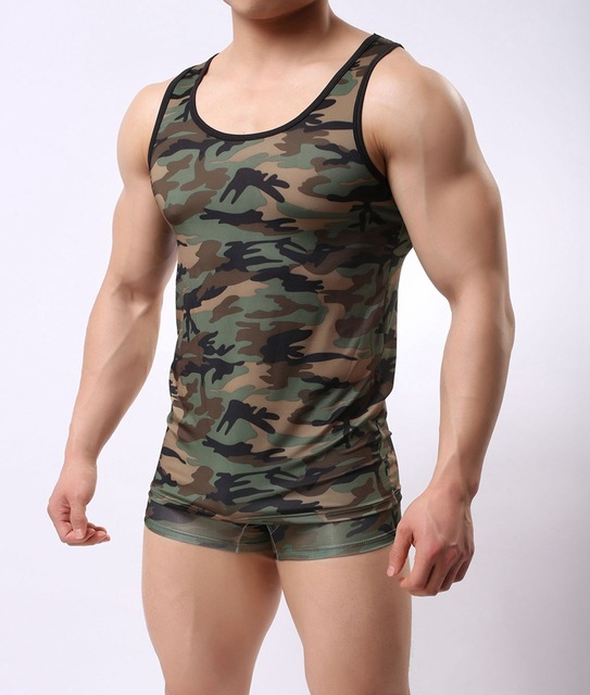 694ee5378ea84 Men s Camouflage Army Tank Top Male Summer Men s Tank Tops Breathable Vest