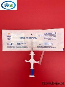 Image 5 - 10 pz/lotto 1.25*7mm WS blu 134.2KHz FDX B Pet Microchip con la Siringa per gli animali di chip: maiale Bestiame Mucca Cane Cavallo Pesce, ecc.