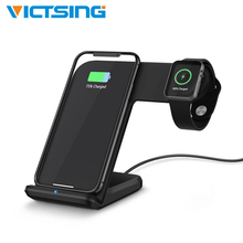 2-in-1 Wireless Charging Bracket Phone Holder Stand 10W/7.5W/5W Smart Dock Station for iPhone Watch 2 Color
