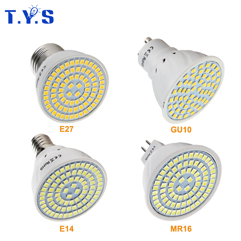 Светодиодный лампы GU10 E14 E27 MR16 Bombillas лампада светильник светодиодный 3 Вт 5 Вт 7 Вт SMD 2835 220 В светодиодный s лампы для дома люстра