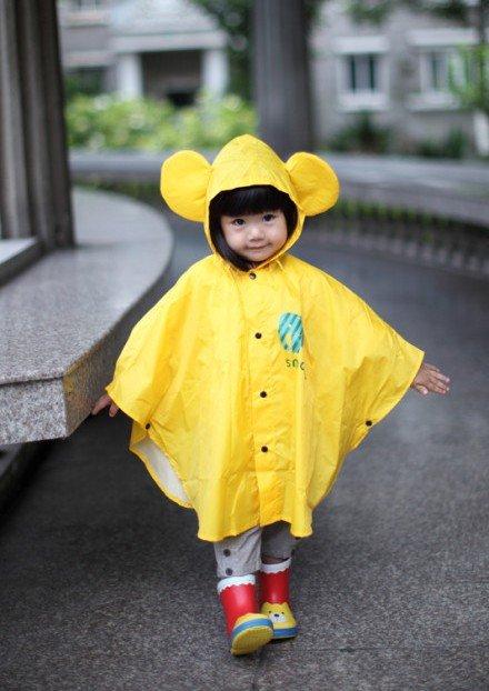 Free Shipping Lovely Children Raincoat Poncho Cape Bat