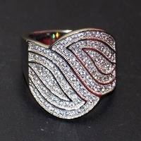 Симпатичные Роскошные ювелирные изделия 925 стерлингового серебра проложить Полный крошечный 5A Цирконий CZ Мода вечерние Для женщин свадебн