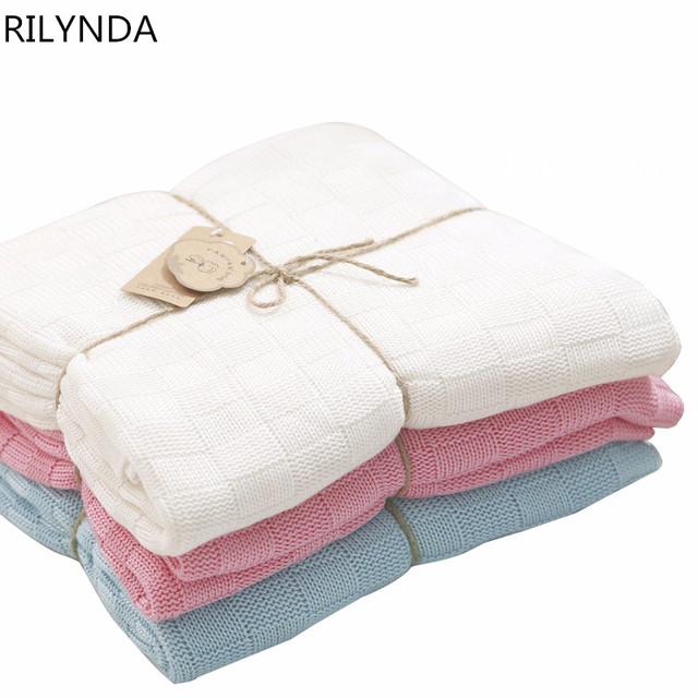 New born baby cobertores envoltório infantil crianças de fibra de bambu cobertor de malha dupla-face azul branco rosa 100% de banho de algodão toalha
