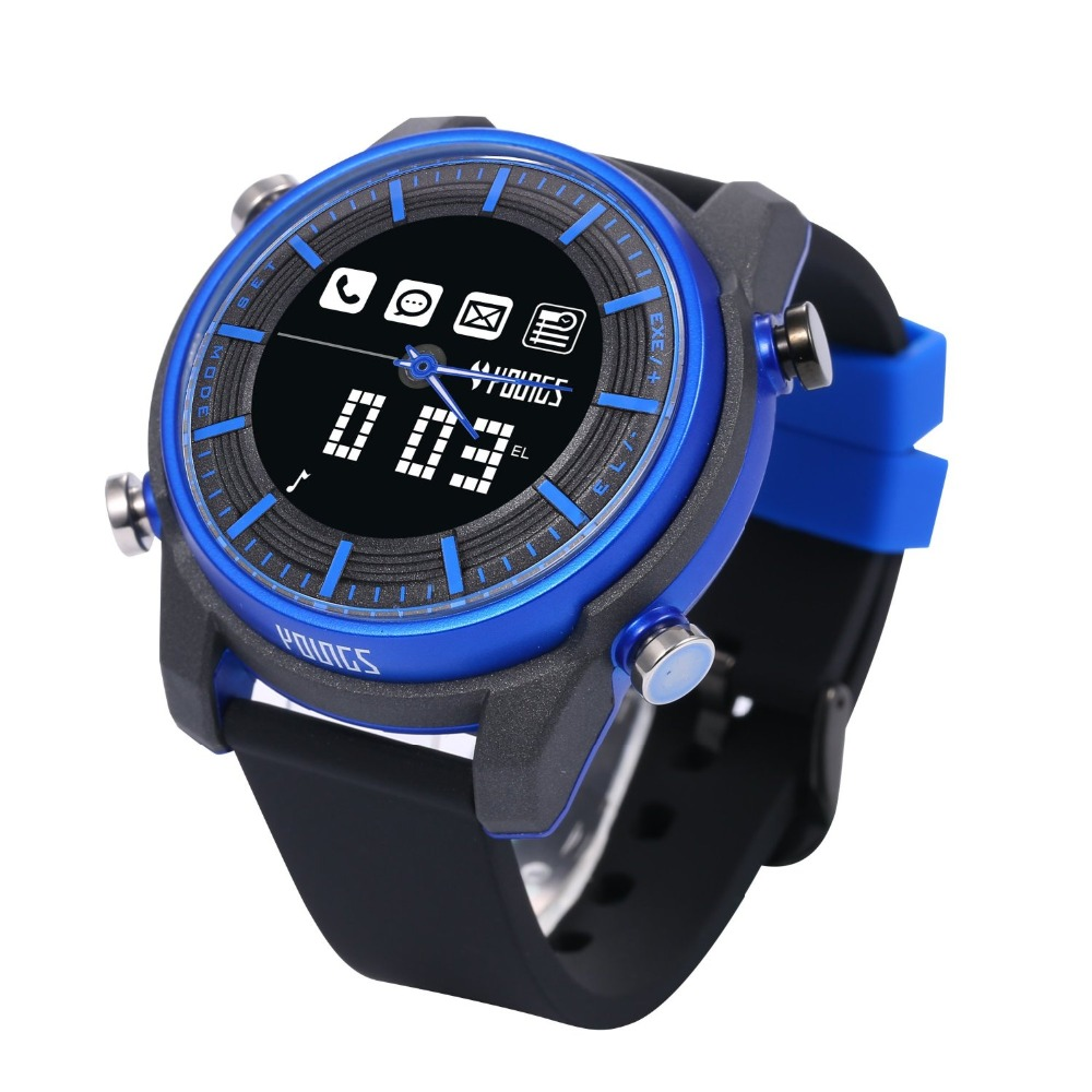 Bluetooth Smart Watch Android IOS Youngs PS1500 Intelligent Electronic Sport Watches Waterproof Wearable Devices For SmartPhone smart watch android ios wearable devices youngs ps1502 sos digital 100m waterproof outdoor bluetooth electronics for smartphone