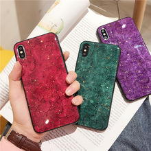 VZD Luxury Shining Gold Foil Soft TPU Case For iPhone X XR XS MAX Bling Glitter Silicone Cover 8 7 6 6S Plus Back