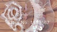 Großhandel 30 yards 1Row Handwerk Organza Stretch Sequin Perlen Spitze Trimmen Nähen Lieferanten Nähen Trim 23mm T37