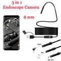 8mm 3 en 1 Endoscope caméra USB Mini caméscopes étanche 6 LED Endoscope caméras d'inspection Endoscope pour Smartphone Android