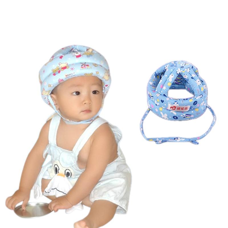 Adjustable Infant Baby Toddler Soft Safety Helmet Head Protection Cotton Hat Cap