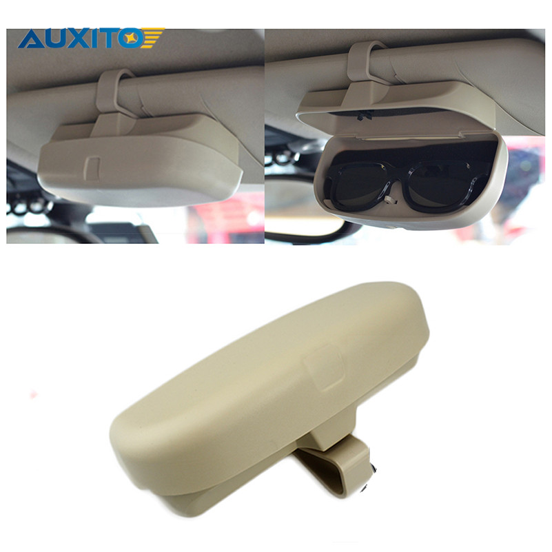 AUXITO Car Glasses Case Box Sunglasses Holder For BMW VW Ford Lada Toyota Honda Audi Hyundai Opel Kia Nissan Accessories 1set automobiles exhaust pipe modification car refitting for bmw vw audi opel ford renault toyota honda nissan lada mercedes kia