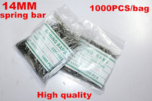 Comercio al por mayor 1000 Unids/bolsa Alta calidad herramientas y kits de reparación de relojes 14 MM barra del resorte de reparación de relojes-041406