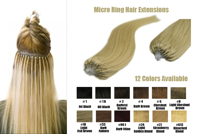 Wholesale Micro Loop Ring Beads Links Hair Extensions Straight 1g