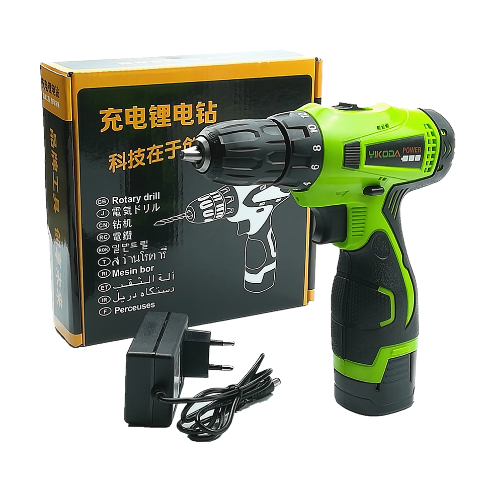 16 8V Household Hand Cordless Drill Double Speed Electric Screwdriver Rechargeable Power Tools One Lithium Battery