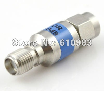 Free shipping (5 pieces/lot) Nickel SMA attenuator SMA male plug to Jack female connector adaptor DC-6GHZ 10db power attenuators areyourshop hot sale 10pcs adapter n jack female to sma male plug rf connector straight ptfe nickel plating gold plating