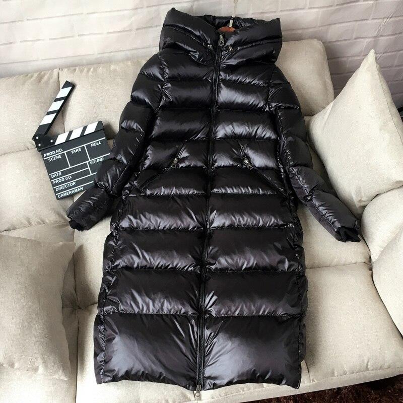 Outwear G384 Capuchon Veste Manteau Black De Chaud Vers D'hiver Porter Canard Bas Longues Parkas Femmes Solide Duvet Blanc Le Femelle Épais Neige À 41xg5q7wWv