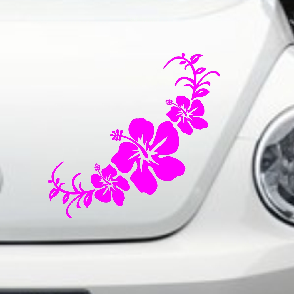 Car hawaiian hibiscus flowers headlight decal vinyl trunk sticker car hawaiian hibiscus flowers headlight decal vinyl trunk sticker cg231 in car stickers from automobiles motorcycles on aliexpress alibaba group izmirmasajfo