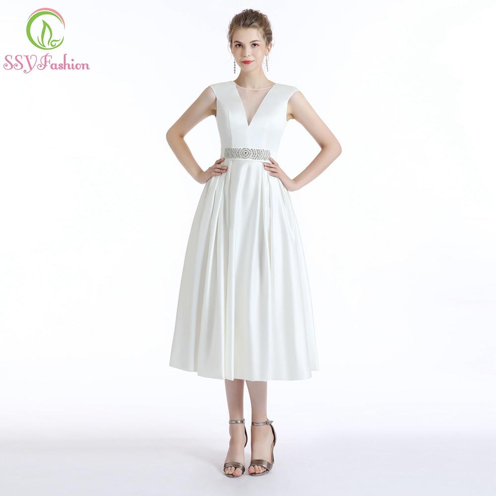 SSYFashion New Simple Cocktail Dresses Banquet Elegant