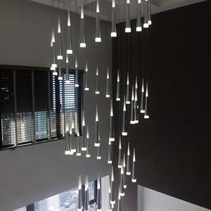 Image 5 - 1 36 heads led stairs pendant lights modern aluminum Acrylic lampbody hang lamp living dining room kitchen suspension luminaire