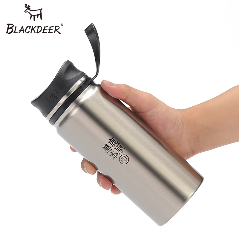 BLACKDEER Sports Bottle Outdoor Double Wall 304 Stainless Steel Water Mug Canteen 600ml Thermos Cup Coffee Tea Milk Travel|Sports Bottles| |  - title=
