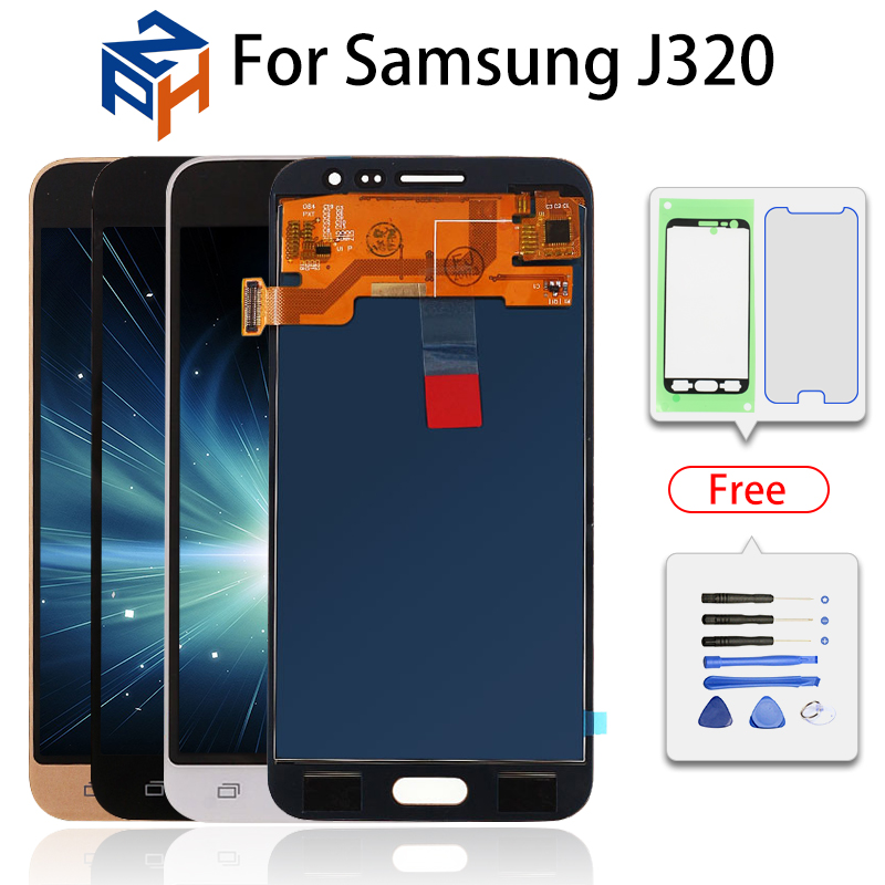 Para Samsung Galaxy J3 2016 Display LCD Touch Screen Substituição Digitador Assembléia para SM-J320F J320/DS J320FN J320M LCD tela