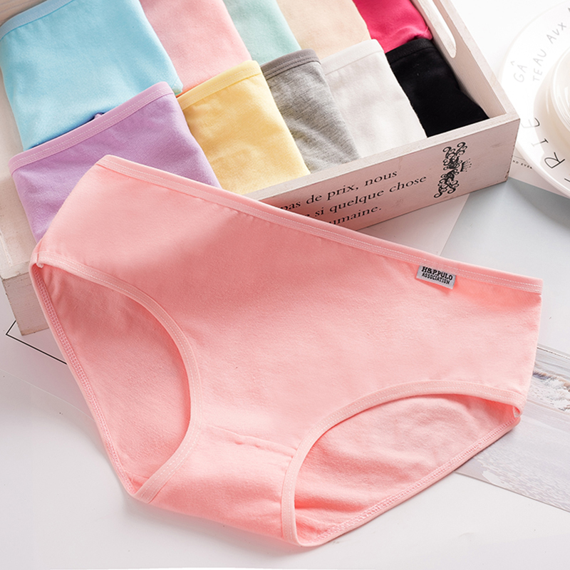 L-4XL Hot sale High-Quality Women's underwear Pure cotton Women Briefs For Solid low-Rise Women's shorts Girls Panties Lingerie(China)