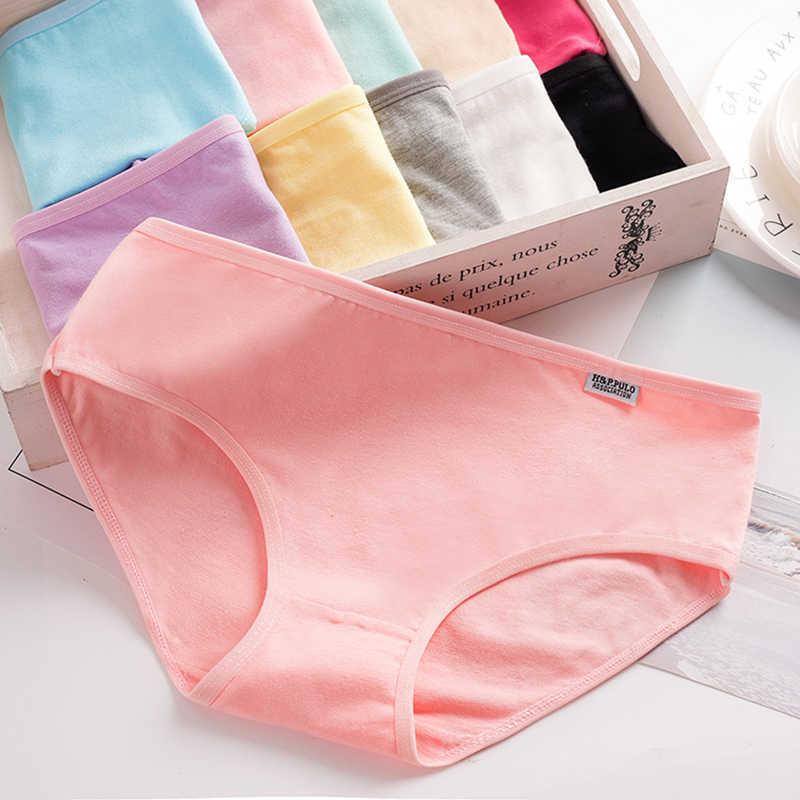 L-4XL Hot البيع عالية الجودة المرأة الملابس الداخلية القطن الخالص النساء ملخصات ل الصلبة منخفضة الارتفاع المرأة السراويل الفتيات سراويل الملابس الداخلية