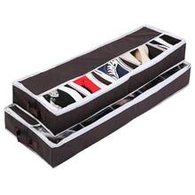 Складная моющаяся коробка для хранения обуви с молнией и ПВХ крышкой, органайзер для обуви, коробки для ботинок, носков, бамбуковый уголь, пы...