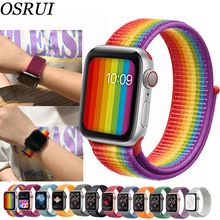 Sport Loop For Apple watch band 42mm 38mm correas strap 4 44mm 40mm Iwatch series 3 2 1 Watchband bracelet breathable wrist belt woven nylon for apple watch band 4 44mm 40mm sport loop watchband iwatch series 4 3 2 1 42mm 38mm bracelet breathable wrist belt