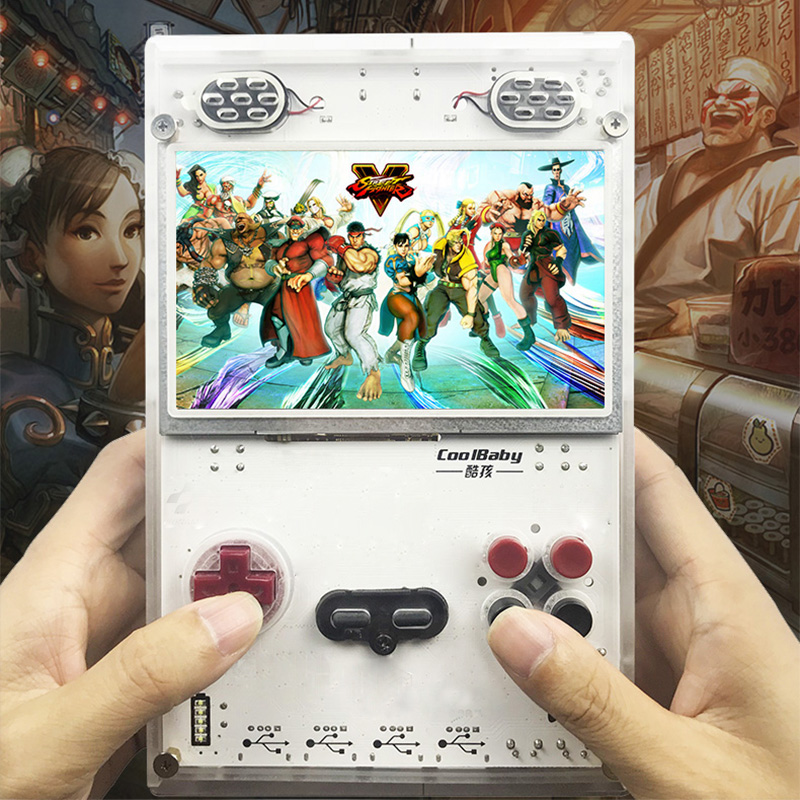 DIY new 5.0 Inch HD IPS Screen Handheld Game Player with Raspberry pi 3 Model B Game console Built in Over 10000 Games