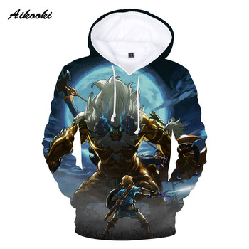 Breath of the Wild 3D Sweatshirts MenWomen Hoodies 3D Print The Legend of Zelda Autumn Winter Thin Hoodie pullover Tops clothes jung kook bts persona