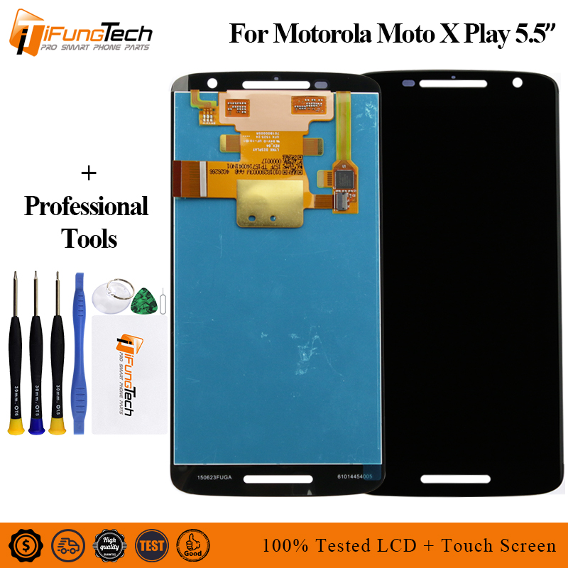 5PCS Free Shipping LCD For Motorola Moto X Play Xt1562 Xplay LCD Display With Touch Screen