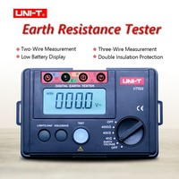 LCD High Precision Digital Earth Resistance Tester Digital Display 0 400V 0 4000 ohm Ground Earth Resistance UNI T UT522