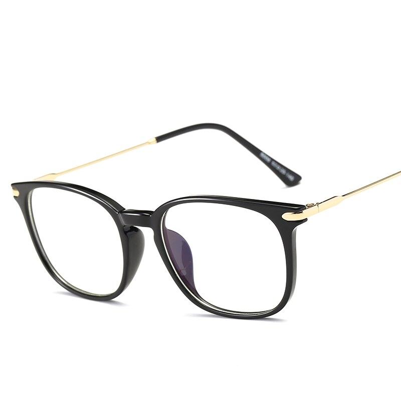 Marca TR90 Anti Blu Ray Occhiali Computer Miopia Ottica Occhiali Telaio In Titanio Nero di Grandi Dimensioni Occhiali Cornice per le Donne Degli Uomini