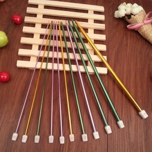 Free Shipping 27cm Colorful aluminous Afghan crochet hook 11pcs size 2.0-8.0mm for DIY knitting hand crafts