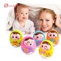 Mini Girl baby doll Toy Brinquedos para Bebe Matlyoshka Tumbler Doll Boneca Baby Rattles Gifts for Children Cute Facial Toys