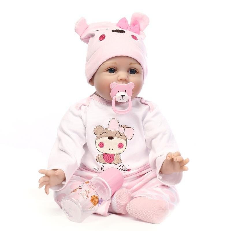 22 pulgadas muñecas renacidas juguetes para chico linda princesa DIY muñecas niño niña Brinquedos regalos bebé acompañan juguetes muñecas de iluminación-in Muñecas from Juguetes y pasatiempos on AliExpress - 11.11_Double 11_Singles' Day 1